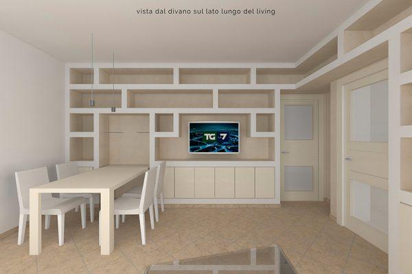 Pareti attrezzate e di design in cartongesso edil rocchi for Pareti attrezzate di design